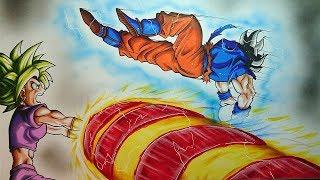 Goku Vs Kefla KameHameHa - Drawing