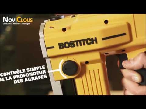 BOSTITCH  DSA-3522-E : Agrafeuse carton sur batterie 10.8 V