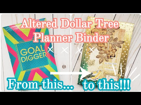 DIY Altered Journal Covers, Part 2 || Dollar Tree Mini Binder DIY