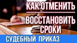 Судебный приказ.Отмена судебного приказа и восстановление сроков(, 2016-11-07T07:13:13.000Z)