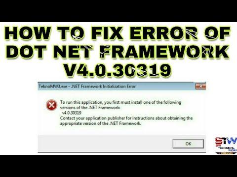 To run this application net framework v4 30319