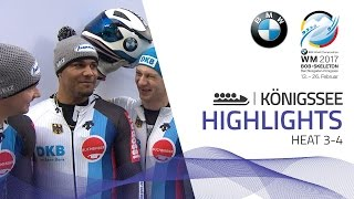 Highlights Heat 3-4 | Germany sweep a historical podium | BMW IBSF World Championships 2017