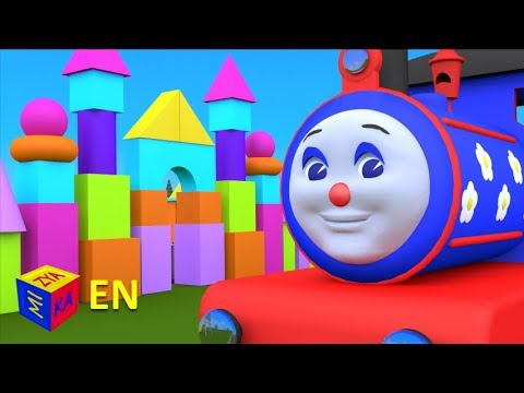 Thumbnail: Shapes for kids children grade 1: Learn 3D shapes (geometric solids) with Choo-Choo train - part 2