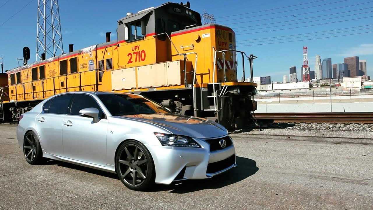 "Lexus GS 350 F Sport on 20"" Vossen VVS CV7 Concave Wheels Rims"
