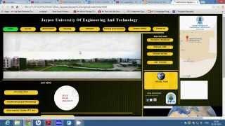 Webpage For JUET, Guna (Demo)