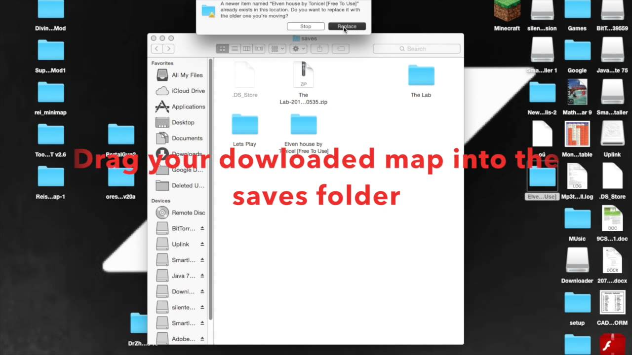 how to open a minecraft map on mac