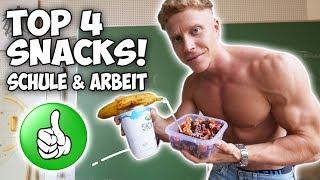 ERNÄHRUNG für die SCHULE & ARBEIT: Top 4 Fitness Snacks!