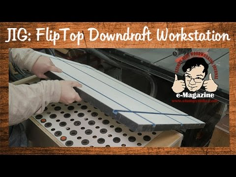 Amazing flip-top downdraft workstation and table saw out-feed table