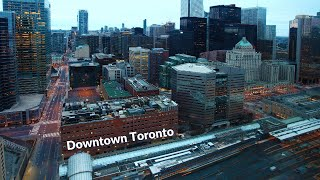 Downtown Toronto 4k by Drone - Aerial Drone View Of Toronto Downtown
