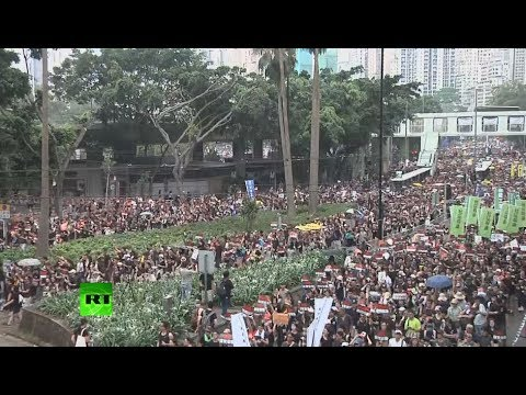 Image result for Protest march continues in Hong Kong