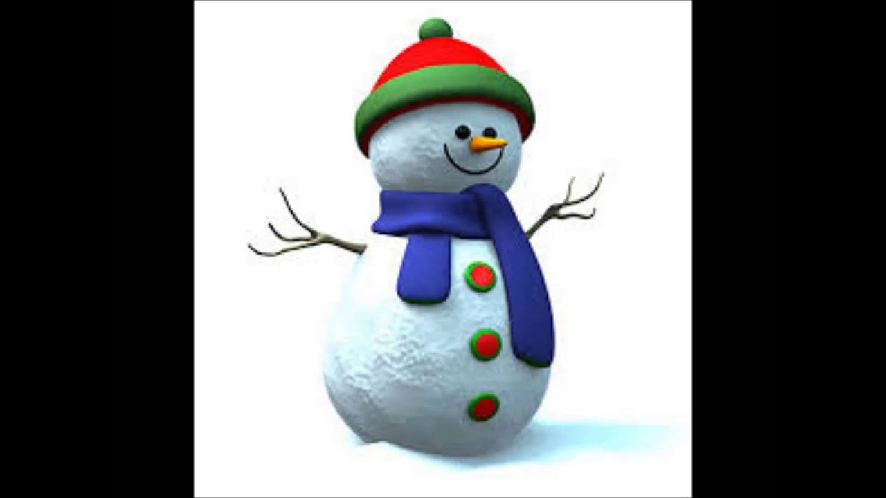 Muneco de nieve en navidad villancico
