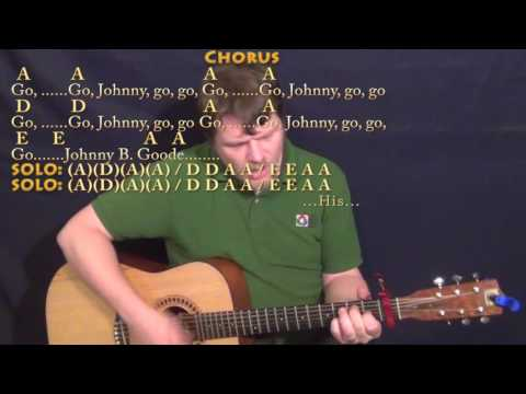 Johnny B. Goode (Chuck Berry) Guitar Cover Lesson with Chords/Lyrics - A7 D7 E7