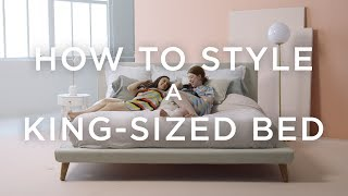 How To Style A King-Sized Bed With Basic Pillows