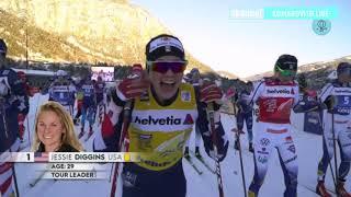 Тур де Ски 2021 6 й этап 8 января 2021 Валь ди Фиемме Масс старт Классический стиль Женщины
