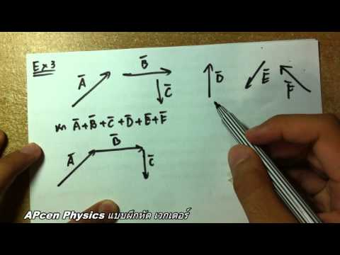 APcen Physics เวกเตอร์ [Vector] แบบฝึกหัด