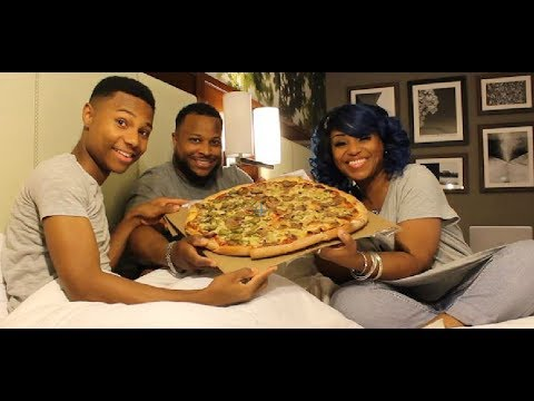 Newyork Style Pizza/Mukbang/Family Eating Show