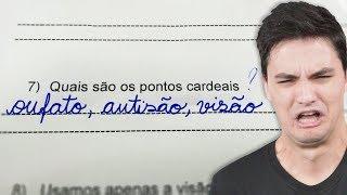 RESPOSTAS DE PROVAS MAIS ENGRAÇADAS!