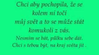 Ben Cristovao a Monika Bagárová - Chci - lyrics