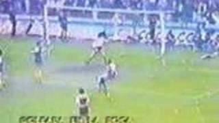 Gol de Zanabria a Union (Boca 4-Union 0 03-10-82)