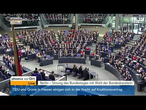 Wahl der Bundeskanzlerin: Angela Merkel (CDU) wiedergewählt am 17.12.2013