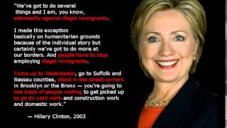 hillary clinton says she is adamantly against illegal immigrants