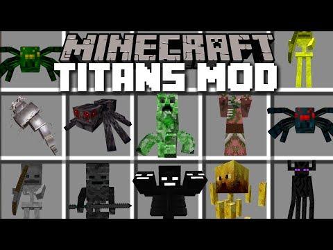 Minecraft TITANS MOD / DESTROYING THE DESERT VILLAGE!! Minecraft
