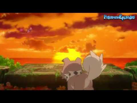 Pokemon Sun And Moon - Ash's Rockruff Evolves Into Lycanroc  Dusk Form