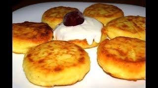 СЫРНИКИ ПЫШНЫЕ БЕЗ МУКИ - Syrnyky (cottage cheese fritters)