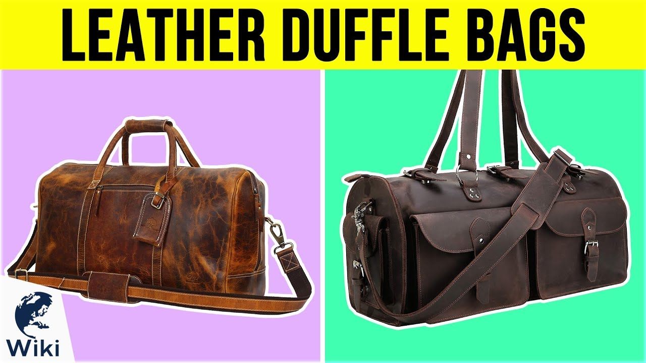 ae7dc1671 10 Best Leather Duffle Bags 2019 - YouTube