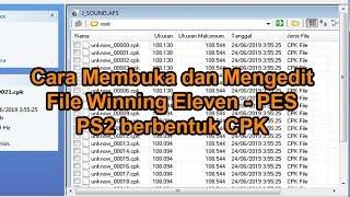 Gambar cover Cara Membuka dan Mengedit File Winning Eleven - PES PS2 berbentuk CPK