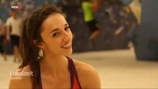 Lokalzeit Bouldern mit Weltmeisterin Juliane Wurm
