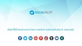 Add RSS Feed and share content automatically & manually