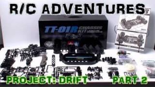 Rc Adventures - Brushless Touring Drift Car Part 2  Tamiya Tt01 R  Kit Custom Kit