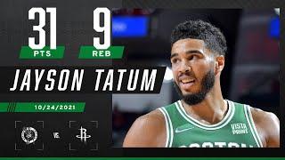 Jayson Tatum's 31 PTS & 9 REB leads Celtics over Rockets ☘️