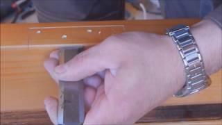 Как врезать петлю стамеской  /ступенька 48