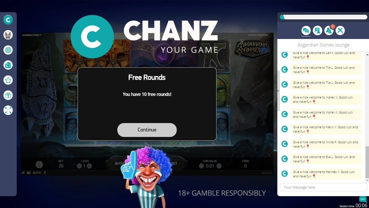 Chanz Casino Signup Bonus (EXCLUSIVE) - How to Get 10 Free Spins on Registration