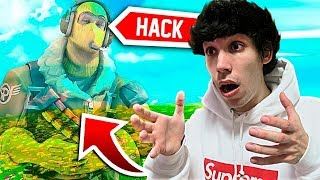 I CAUGHT THE BIGGEST HACKER IN THE FORTNITE... (I WON THE MATCH!!)