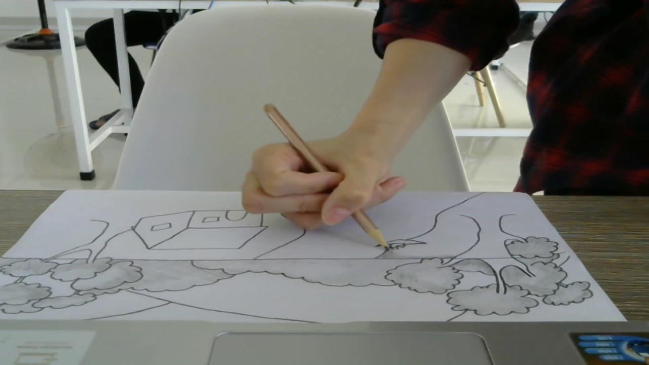 Hướng dẫn vẽ một bức tranh cảnh đẹp bằng bút chì