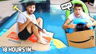 Last To Sink.. (CARDBOARD Boat Edition) - Challenge