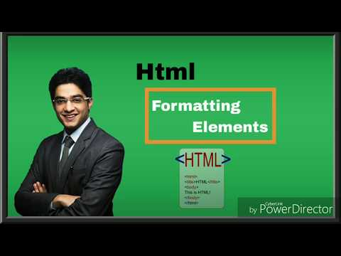 Html Formating Elements Text- Bold, Italic, Emphasis, Super And Sub Script