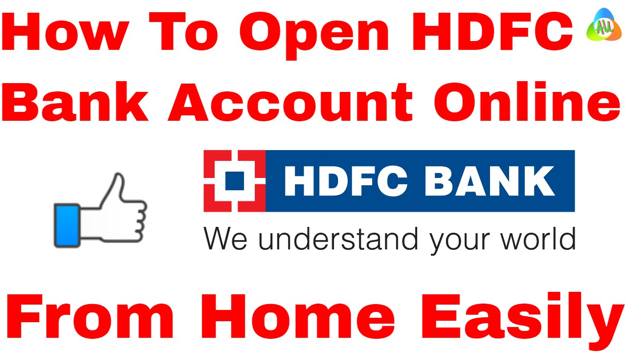 hindi how to open hdfc bank account online l hdfc account opening