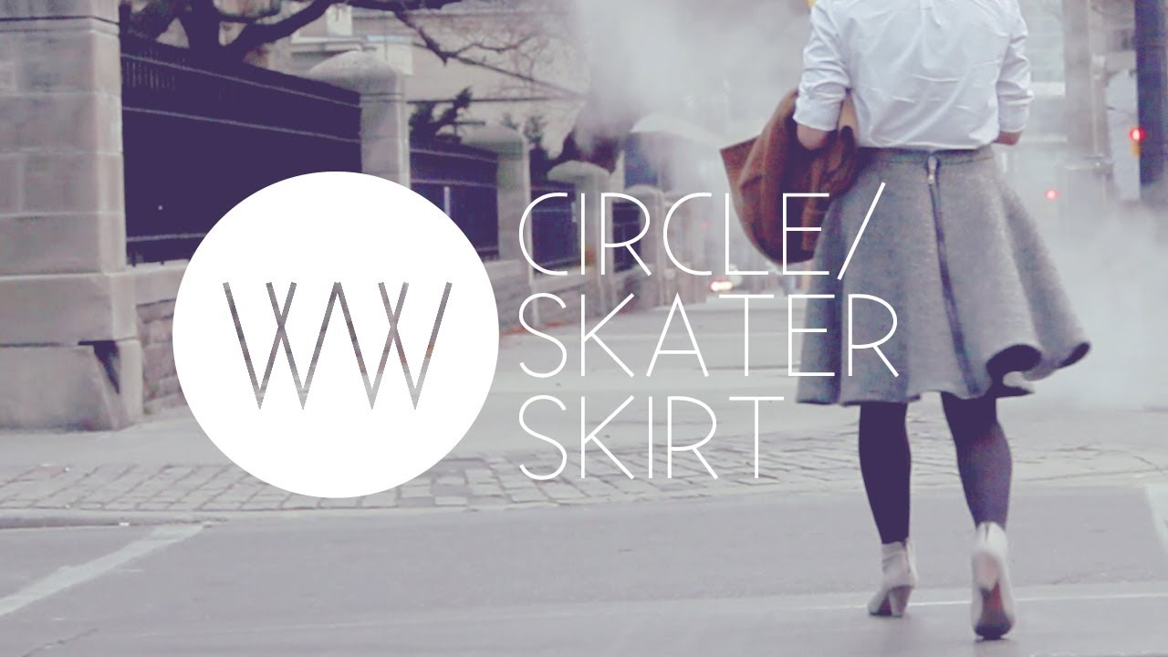 How to Make a Circle/Skater Skirt | WITHWENDY - YouTube