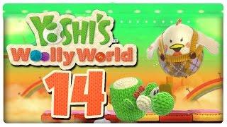 Let's Play YOSHI'S WOOLLY WORLD Part 14: Brutale Yoshis zerstampfen Mutter Gluckuhn und Baby Küken