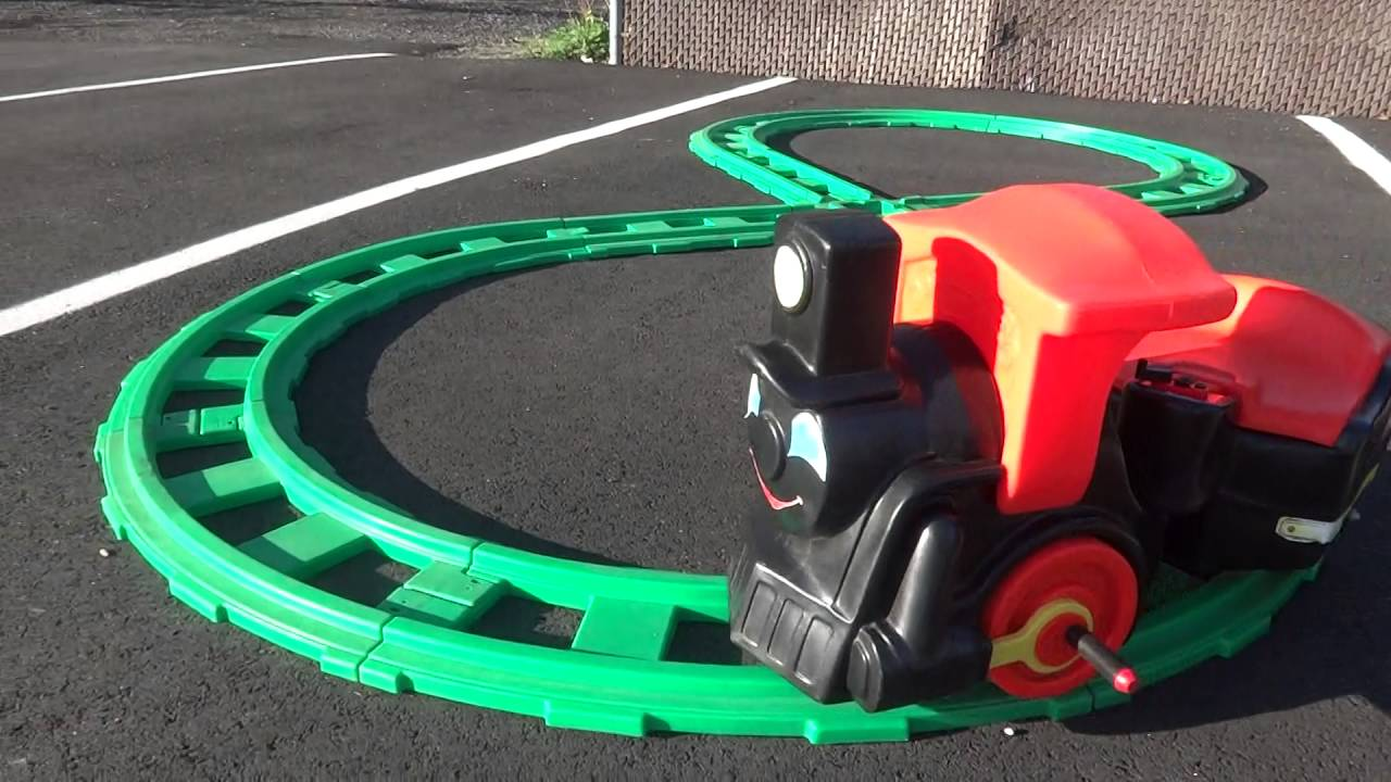 Little Tikes Ride On Toys : Vintage s little tikes child size ride on train tracks youtube