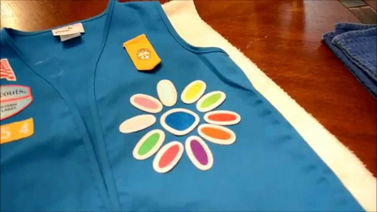 How To Iron On Girl Scout Patches Daisy Petals Youtube