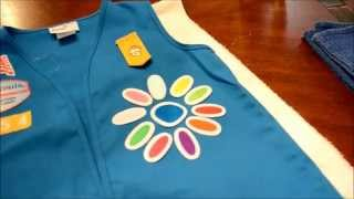 How To Iron On Girl Scout Patches (Daisy Petals)