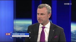 Norbert Hofer - ZIB 2-Interview - 19.2.2019