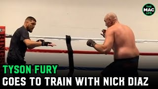 """Tyson Fury and Nick Diaz training together: """"We're coming for all you motherf*****s out there"""