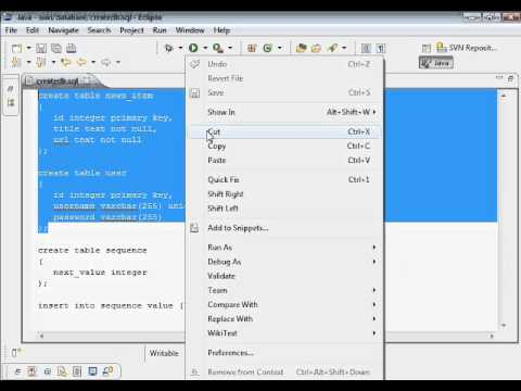 Java Web Programming with Eclipse: Wiki Application, Project Creation