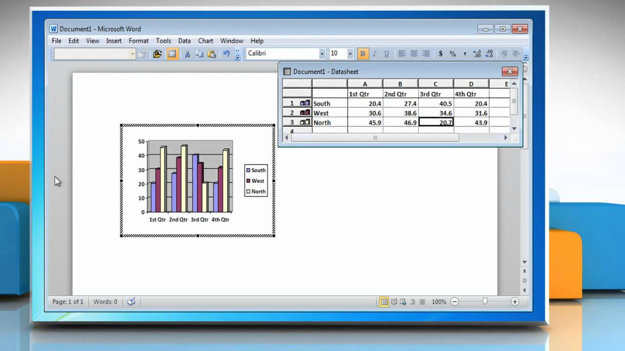 how to create a bar graph in word